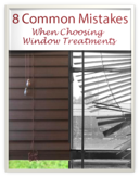 Common Window Treatment Mistakes